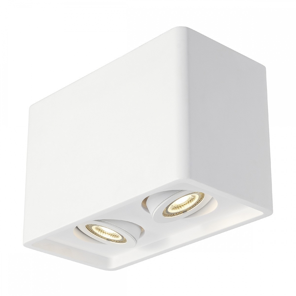 Plaster Dual Cube Ceiling Light
